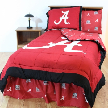 Alabama Crimson Tide Bed-in-a-Bag with Reversible Comforter Queen