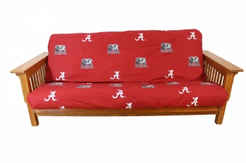Alabama Crimson Tide Futon Cover Full Size fits 8 and 10 inch mats