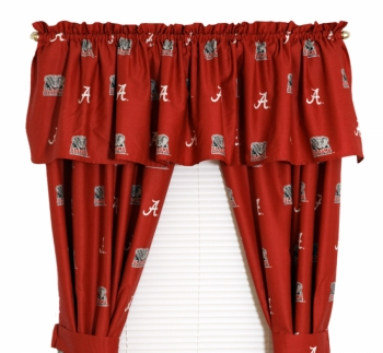 Alabama Crimson Tide Printed Curtain Panels 42 inch X 84 inch