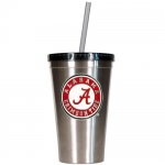 Alabama Crimson Tide Stainless Steel Tumbler with Straw