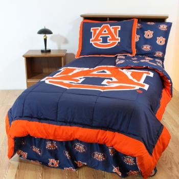 Auburn Tigers Bed-in-a-Bag with Reversible Comforter Full