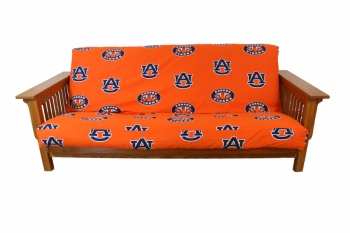 Auburn Tigers Futon Cover Full Size fits 8 and 10 inch mats