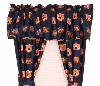 Auburn Tigers Printed Curtain Panels 42 inch X 63 inch
