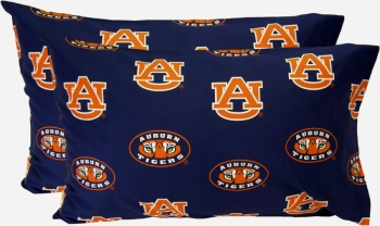Auburn Tigers Printed Pillow Case - (Set of 2) - Solid