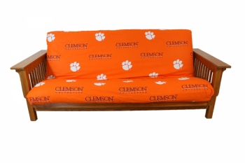 Clemson Tigers Futon Cover Full Size fits 8 and 10 inch mats