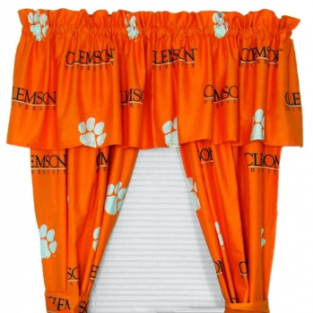 Clemson Tigers Printed Curtain Panels 42 inch X 84 inch