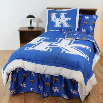 Kentucky Wildcats Bed-in-a-Bag with Reversible Comforter King