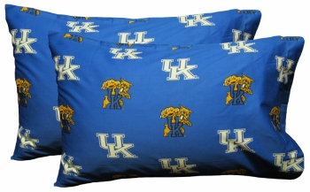 Kentucky Wildcats Printed Pillow Case - (Set of 2) - Solid