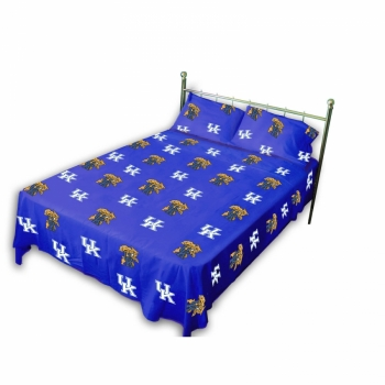 Kentucky Wildcats Printed Sheet Set Twin Solid