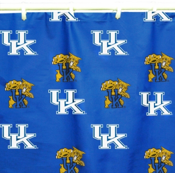 Kentucky Wildcats Printed Shower Curtain Cover 70 inch X 72 inch