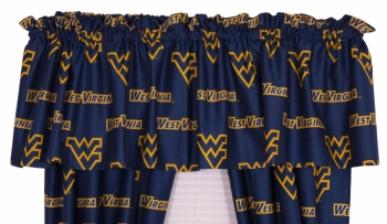 West Virginia Mountaineers Printed Curtain Valance 84 x 15
