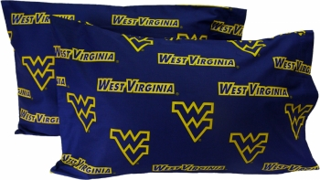 West Virginia Mountaineers Printed Pillow Case - (Set of 2) - Solid