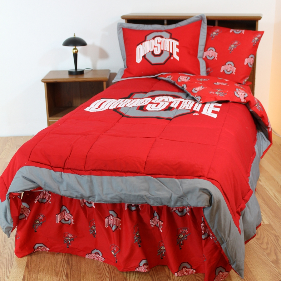 Ohio State Buckeyes Bed In A Bag With Reversible Comforter Full